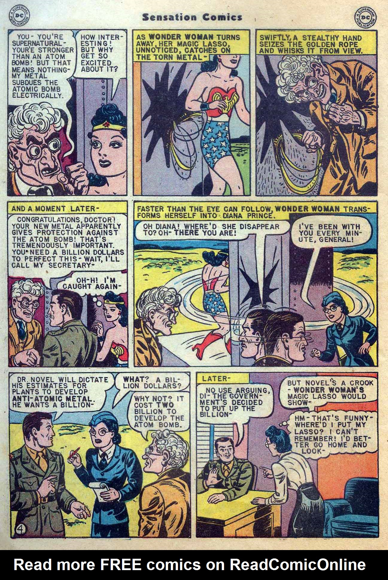 Read online Sensation (Mystery) Comics comic -  Issue #56 - 6