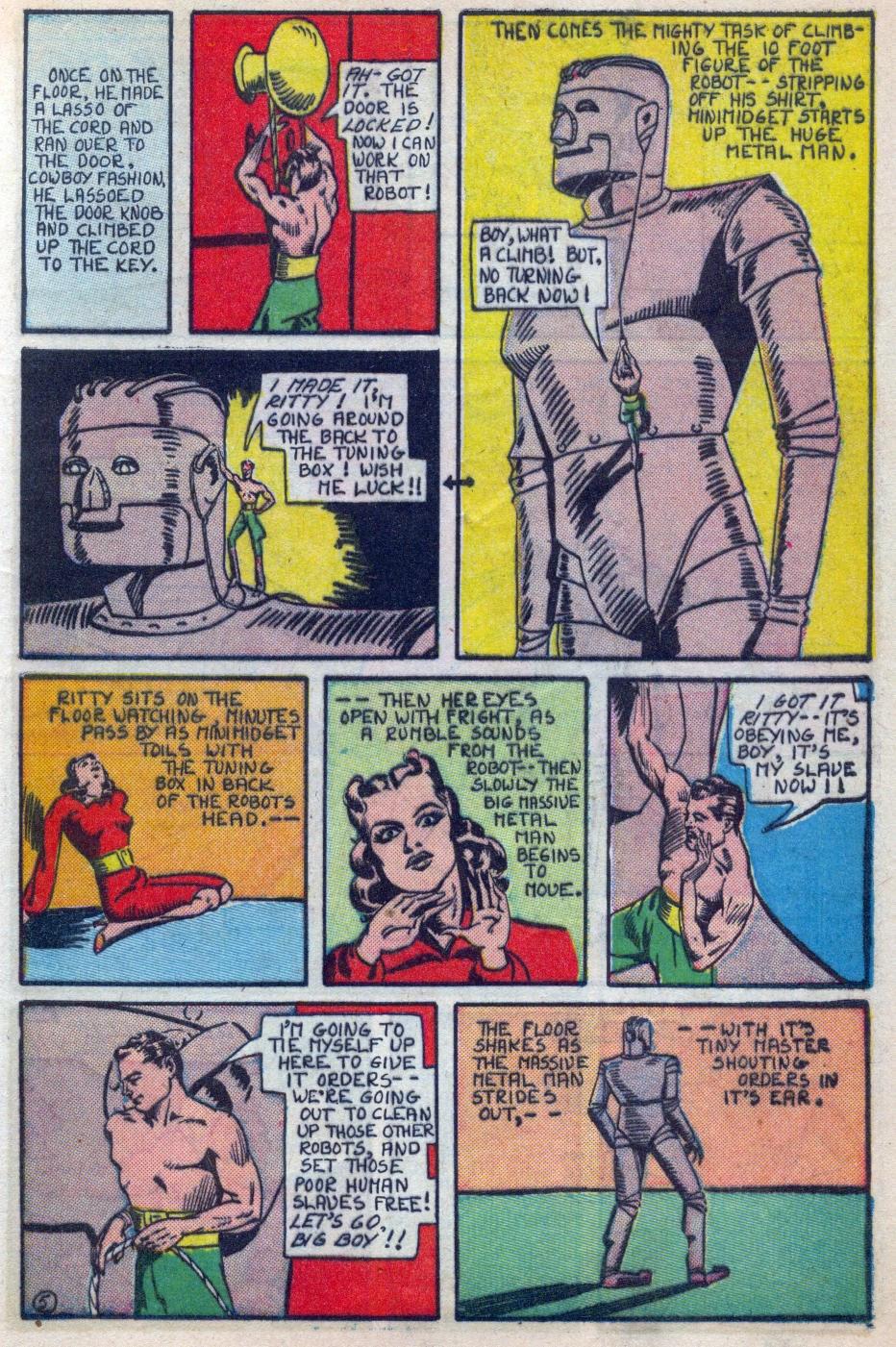 Read online Amazing Man Comics comic -  Issue #15 - 16