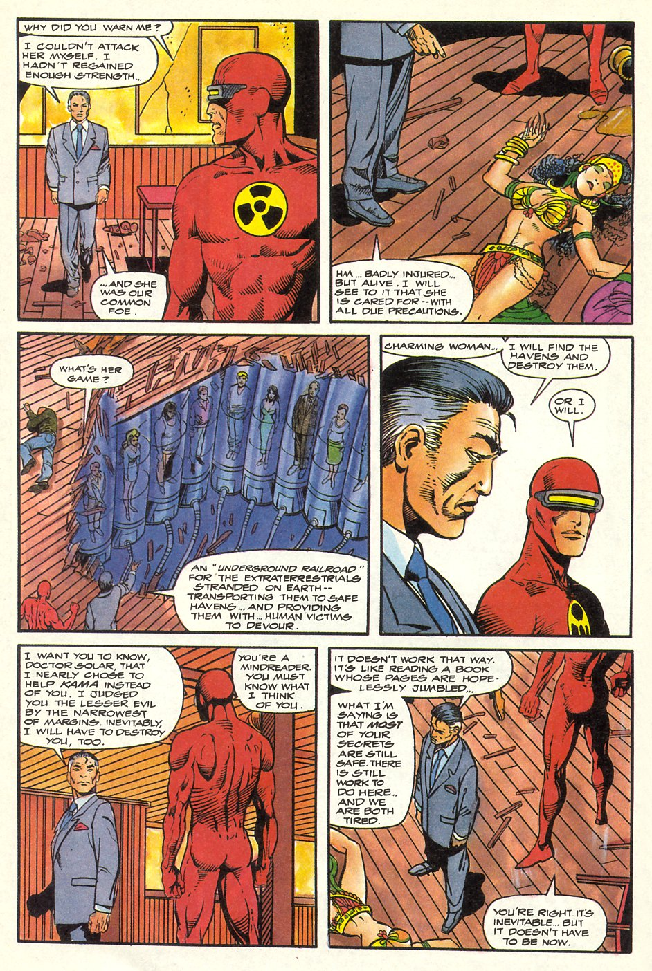 Read online Solar, Man of the Atom comic -  Issue #8 - 35