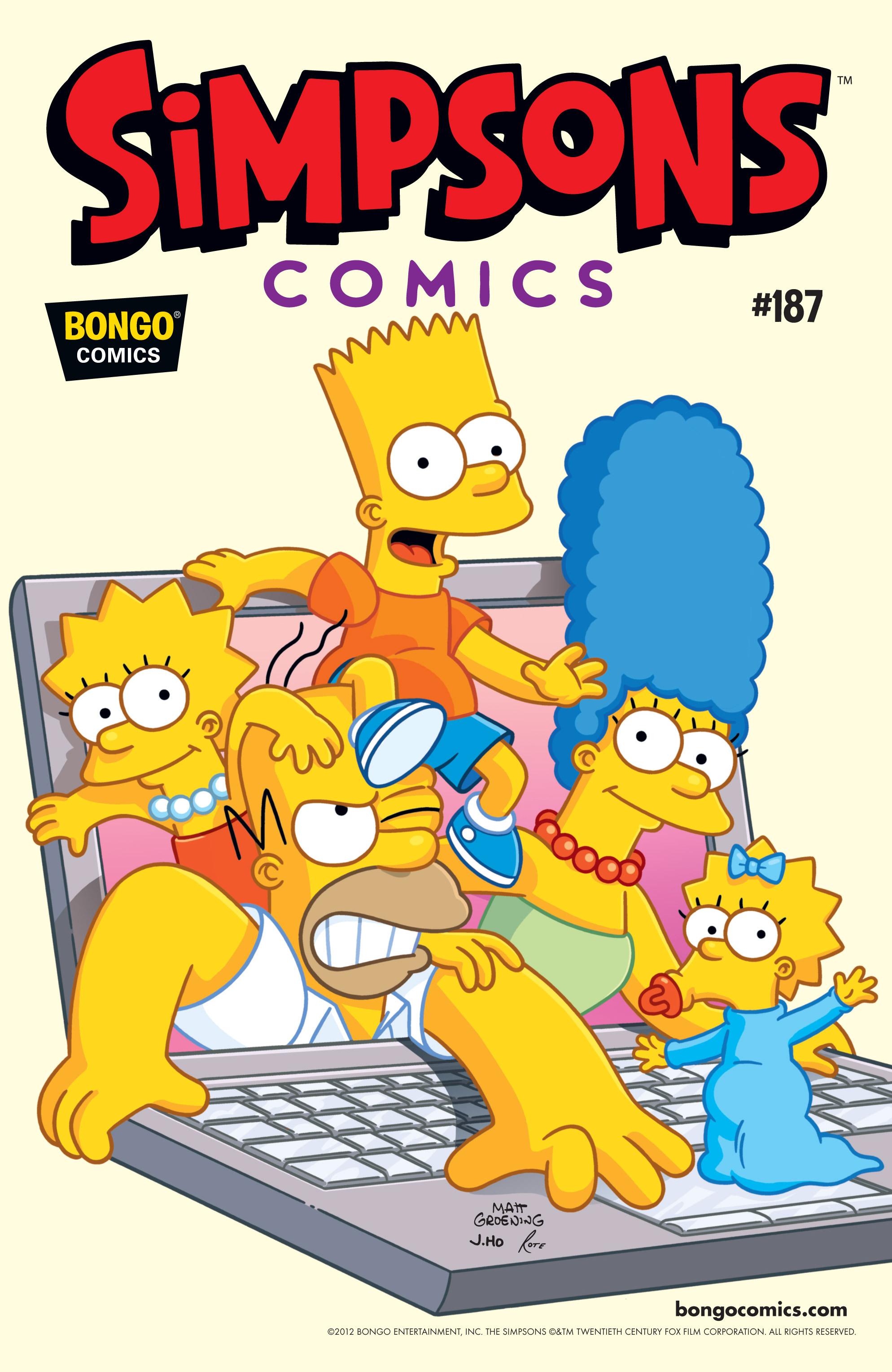 Read online Simpsons Comics comic -  Issue #187 - 1