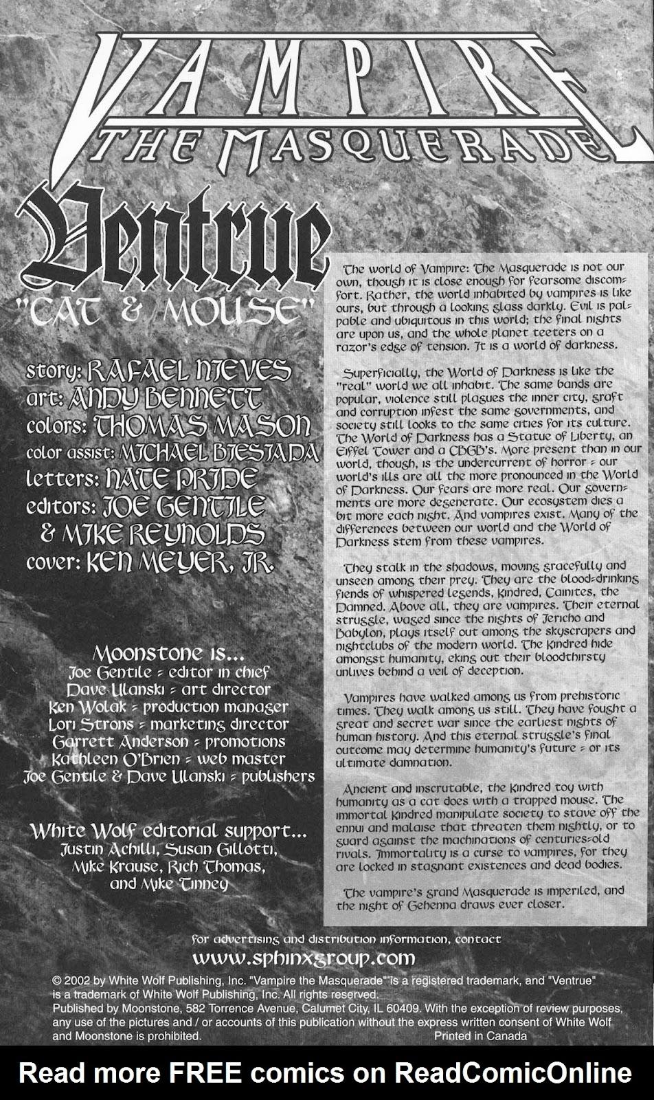 Read online Vampire the Masquerade comic -  Issue # Ventrue - 2