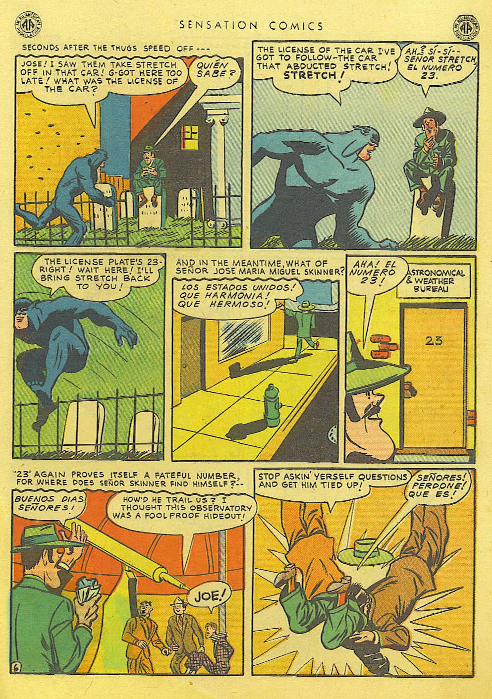 Read online Sensation (Mystery) Comics comic -  Issue #39 - 47