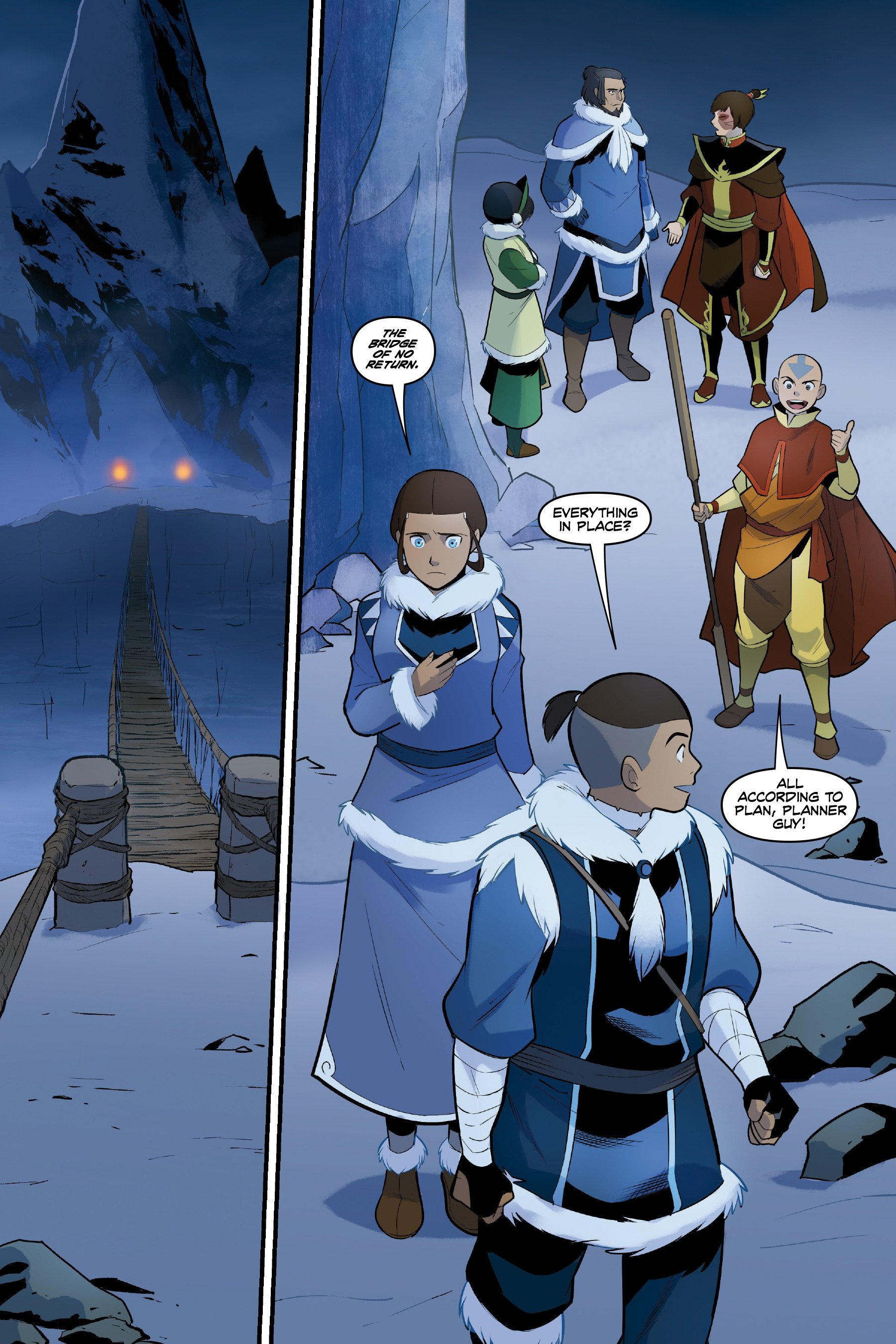 Read online Nickelodeon Avatar: The Last Airbender - North and South comic -  Issue #3 - 46