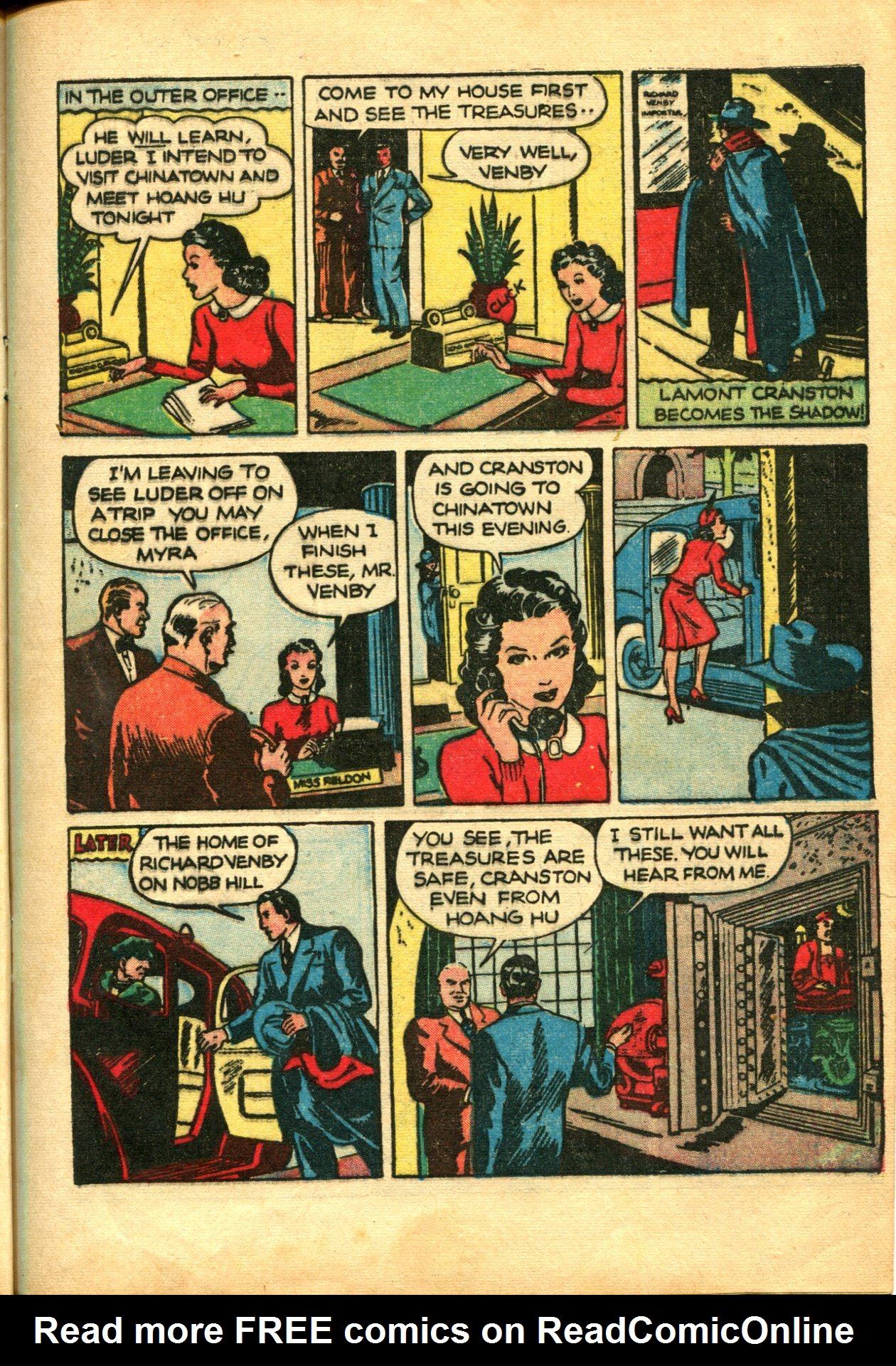 Read online Shadow Comics comic -  Issue #10 - 17