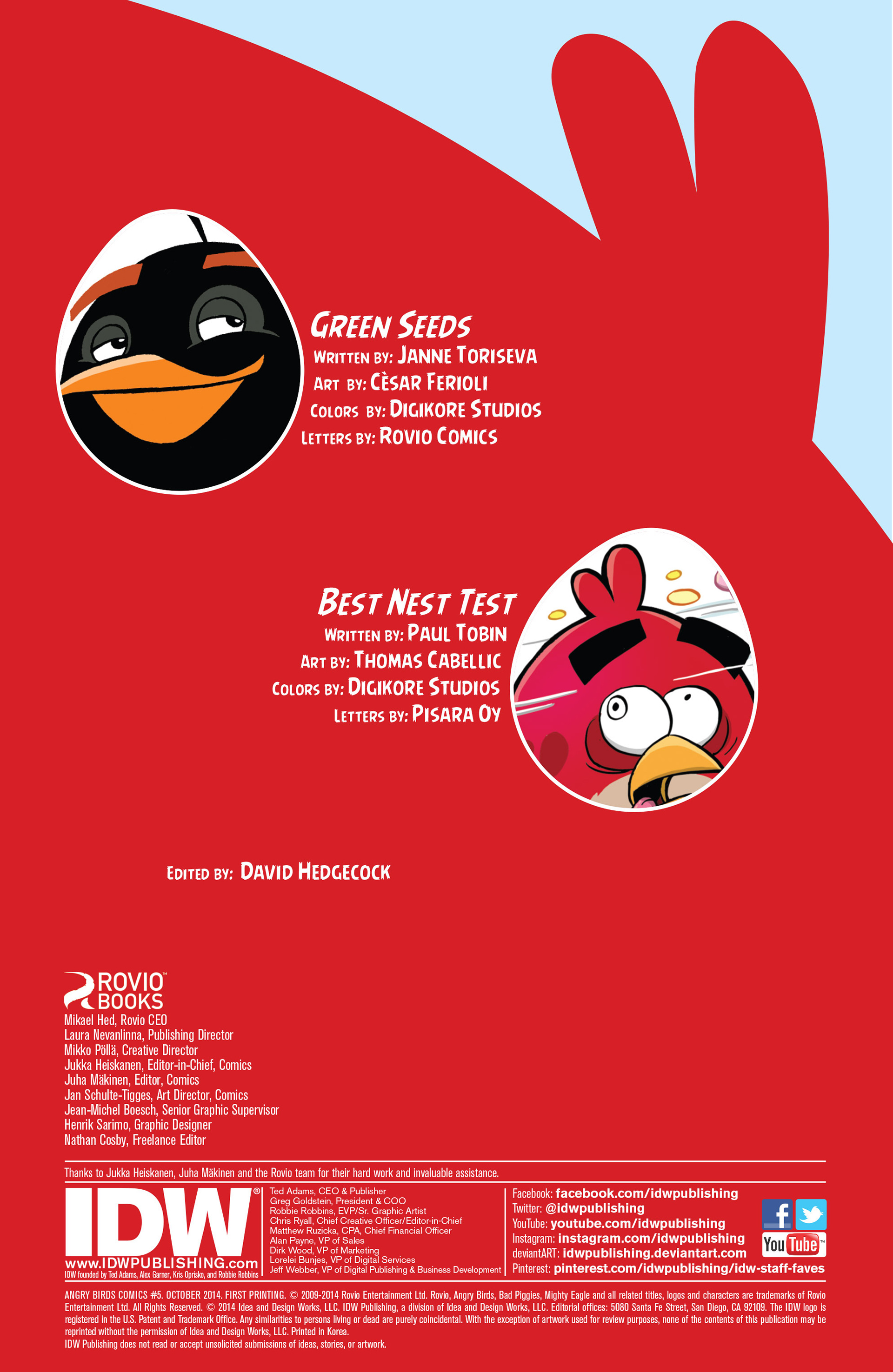 Read online Angry Birds Comics (2014) comic -  Issue #5 - 2