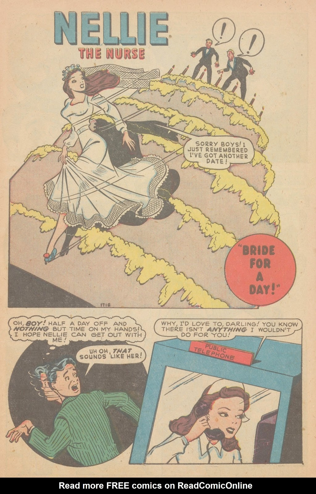 Read online Nellie The Nurse (1945) comic -  Issue #11 - 3