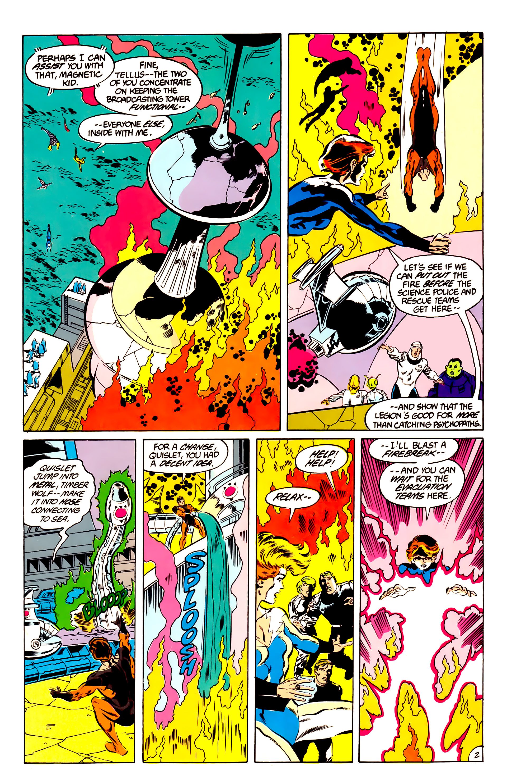 Legion of Super-Heroes (1984) 47 Page 2