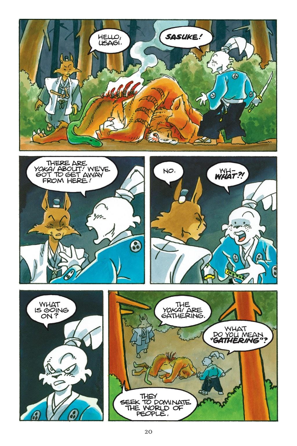 Read online Usagi Yojimbo: Yokai comic -  Issue # Full - 21