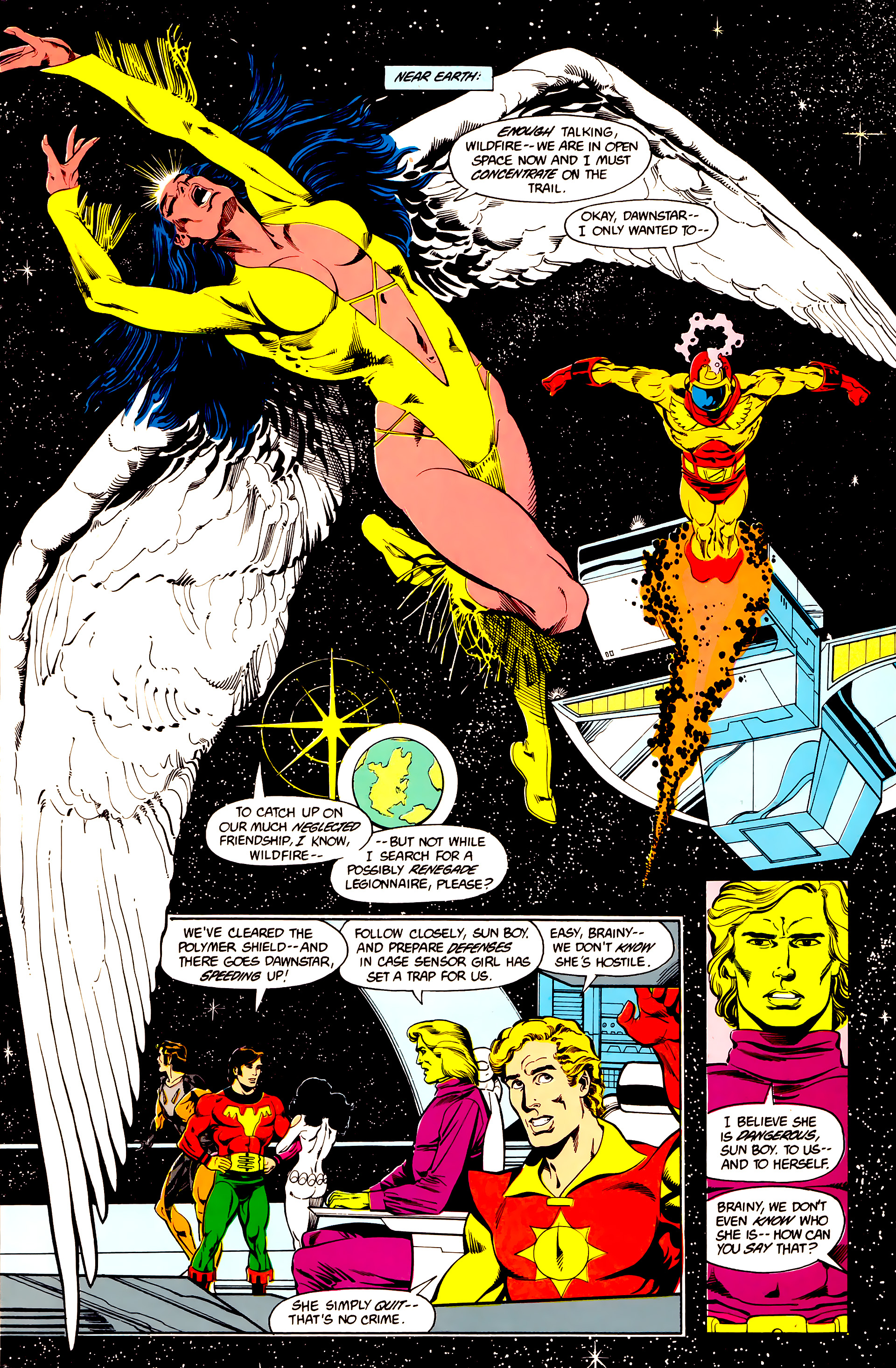 Legion of Super-Heroes (1984) 25 Page 4