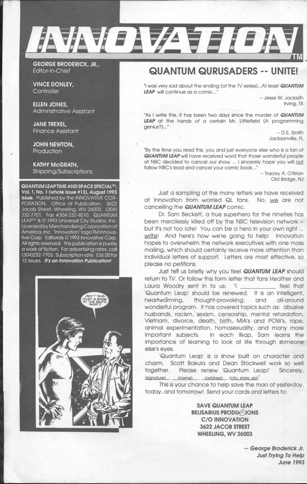 Read online Quantum Leap comic -  Issue #13 - 2