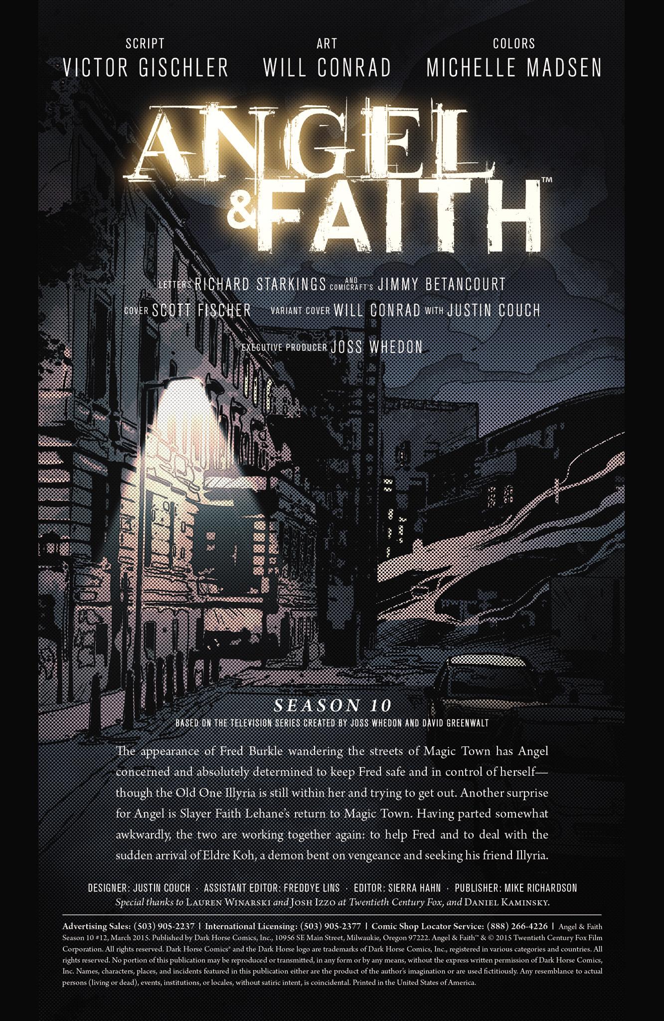 Read online Angel & Faith Season 10 comic -  Issue #12 - 2