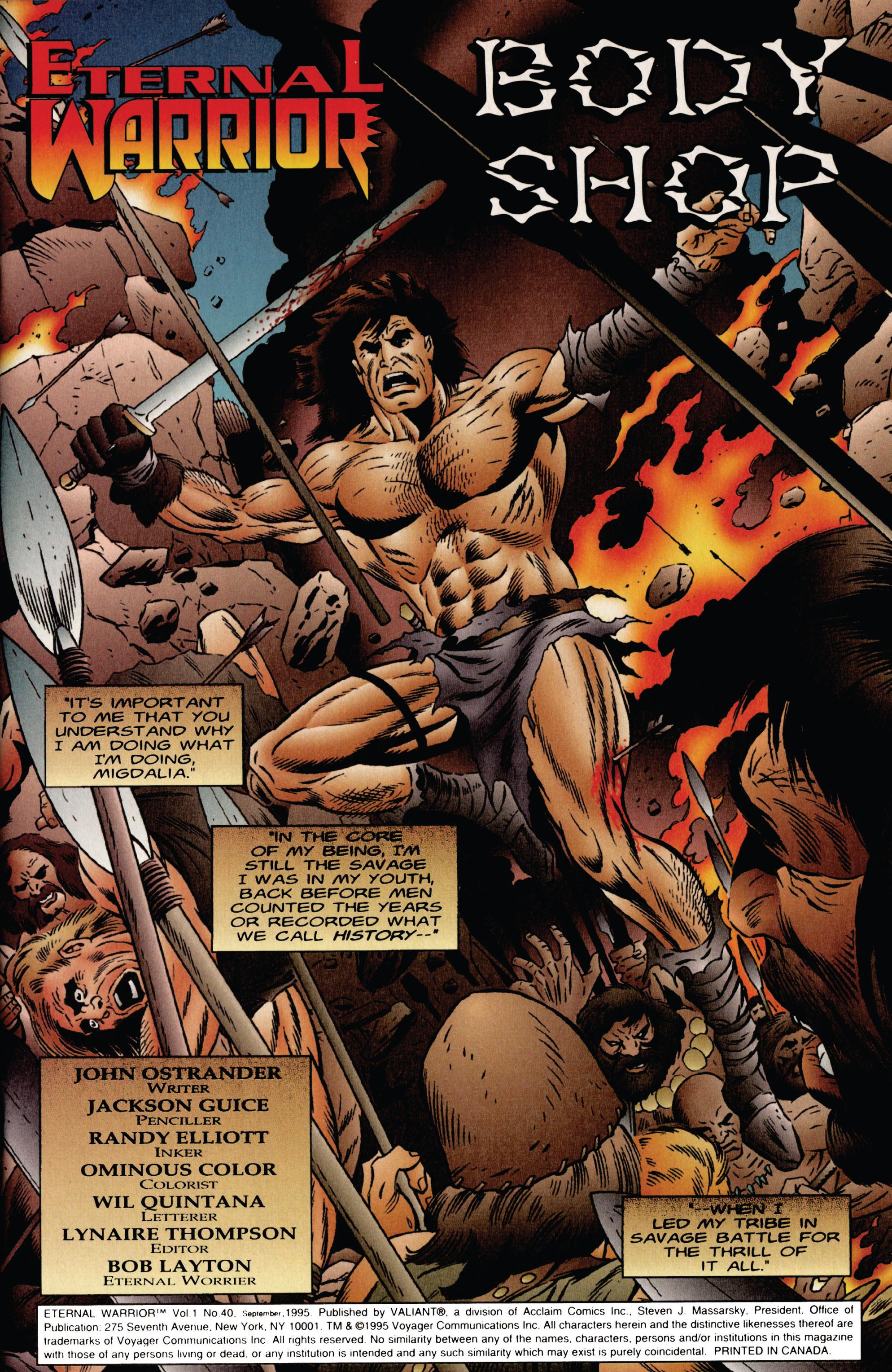 Read online Eternal Warrior (1992) comic -  Issue #40 - 2