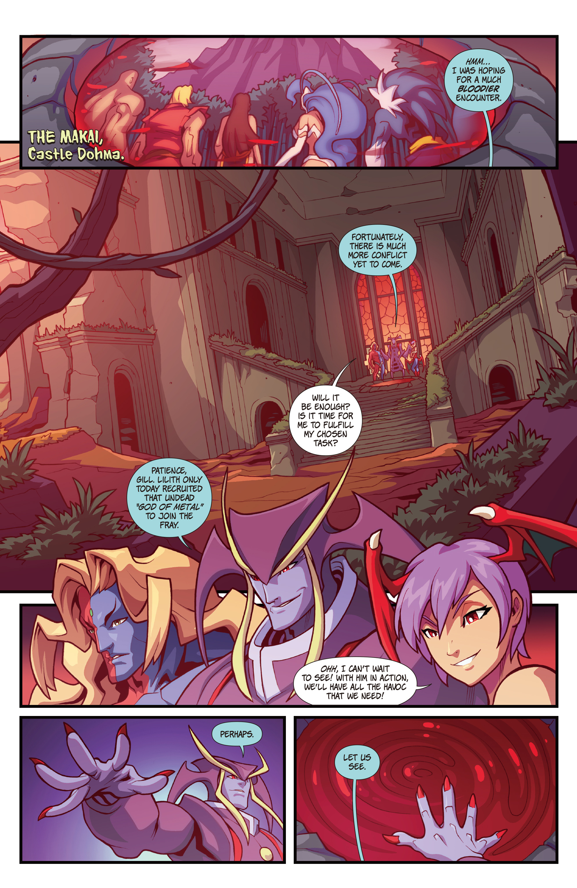 Read online Street Fighter VS Darkstalkers comic -  Issue #1 - 19