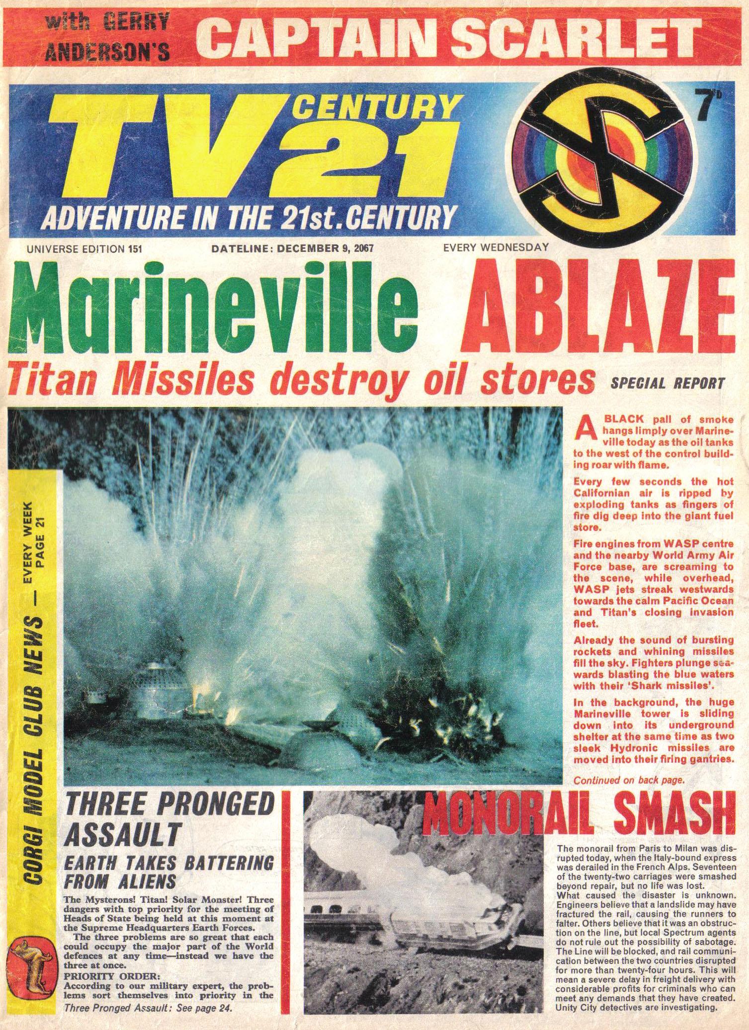 Read online TV Century 21 (TV 21) comic -  Issue #151 - 1