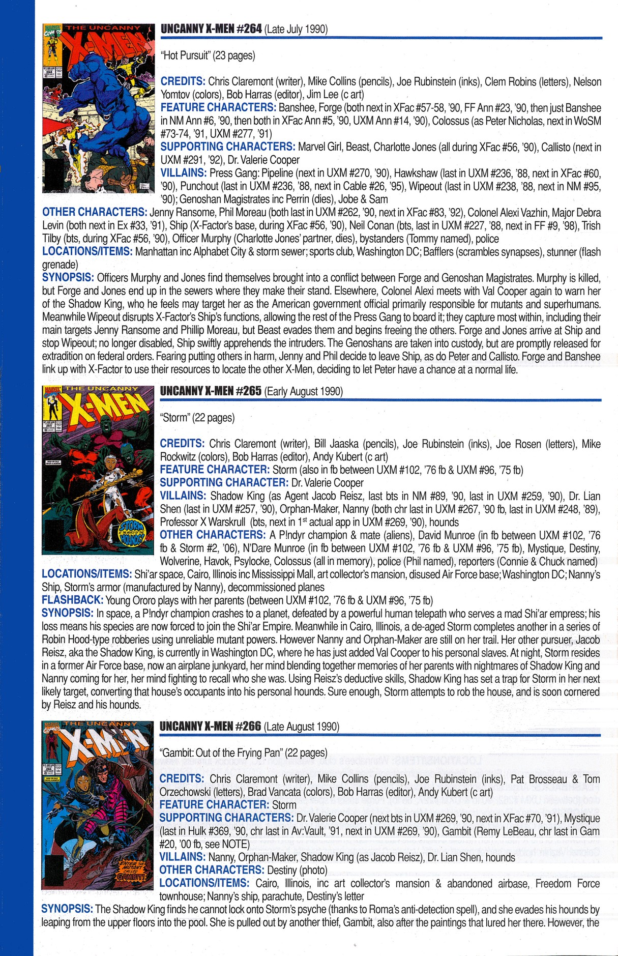 Read online Official Index to the Marvel Universe comic -  Issue #6 - 64