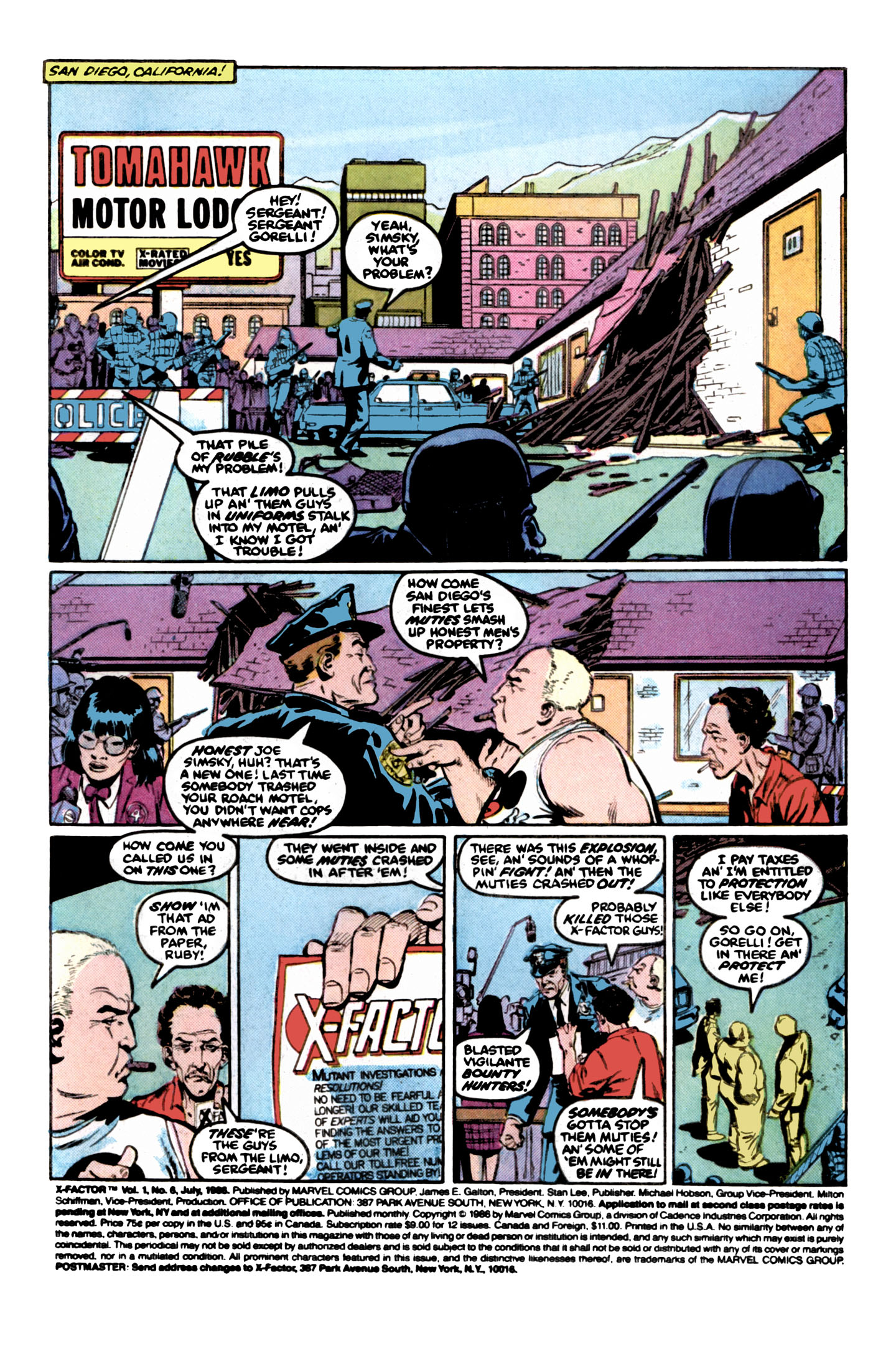 Read online X-Factor (1986) comic -  Issue #6 - 2