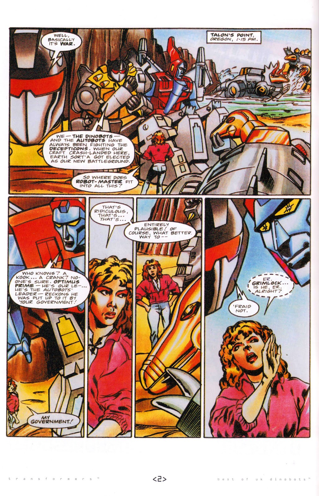 Read online The Transformers: Best of UK: Dinobots comic -  Issue #5 - 4