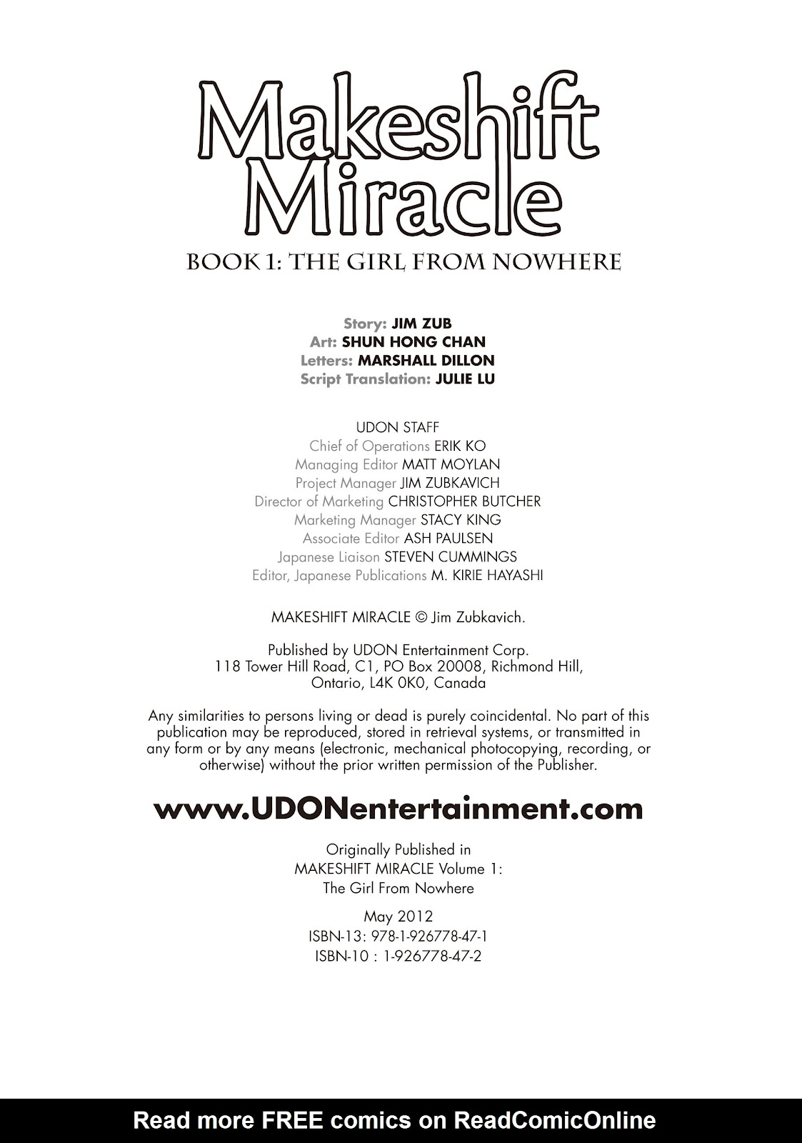 Read online Makeshift Miracle: The Girl From Nowhere comic -  Issue #1 - 3