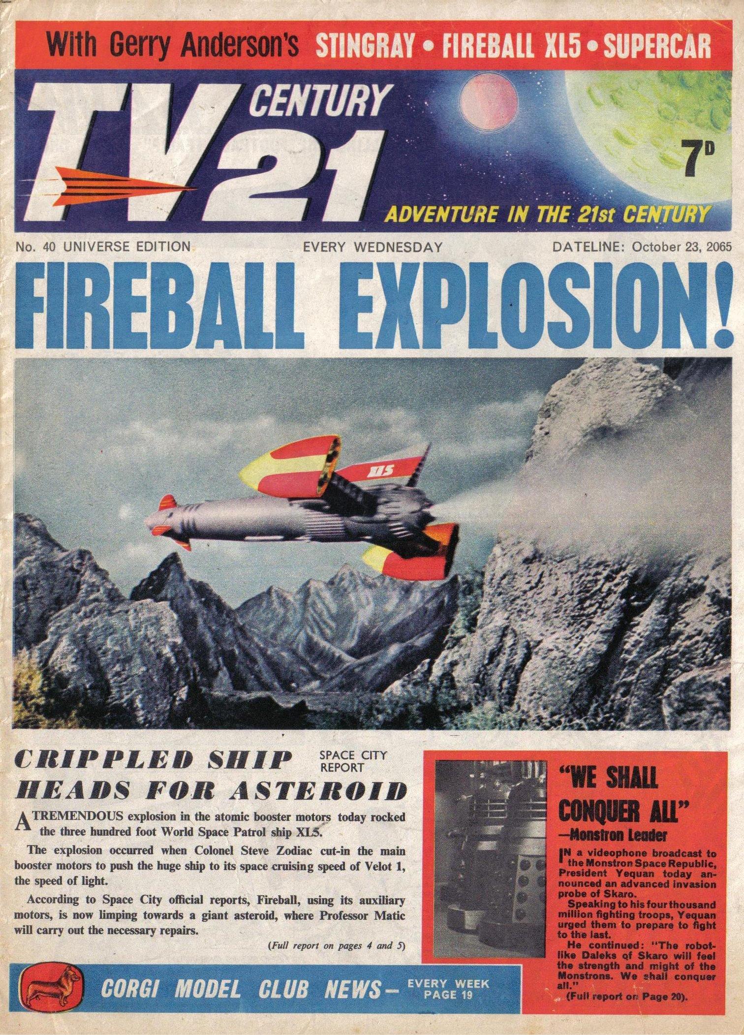 Read online TV Century 21 (TV 21) comic -  Issue #40 - 1
