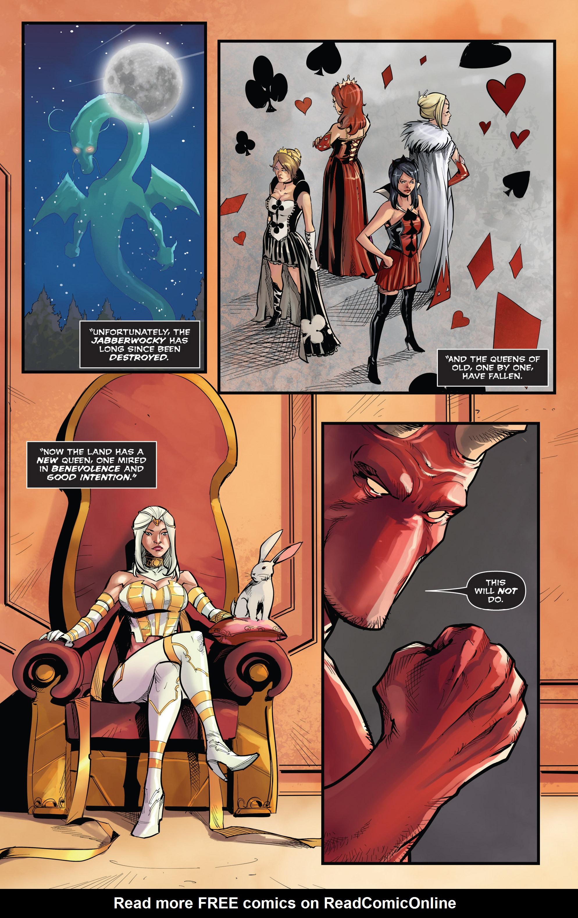 Read online Grimm Fairy Tales vs. Wonderland comic -  Issue #3 - 8
