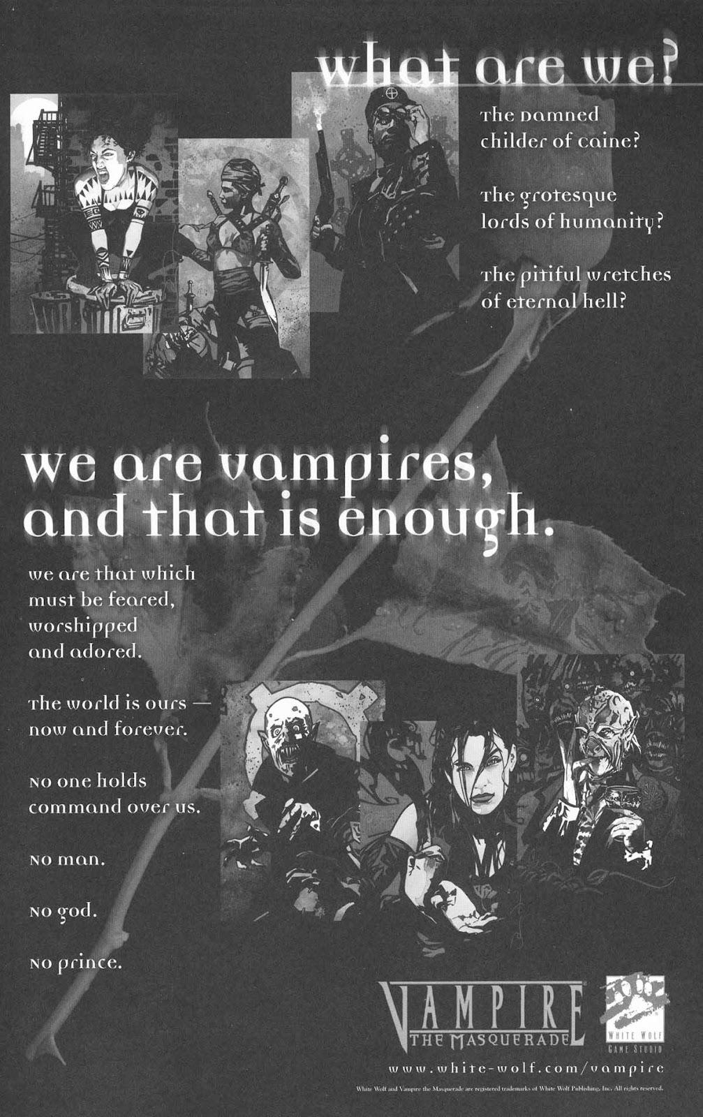 Read online Vampire the Masquerade comic -  Issue # Toreador - 51