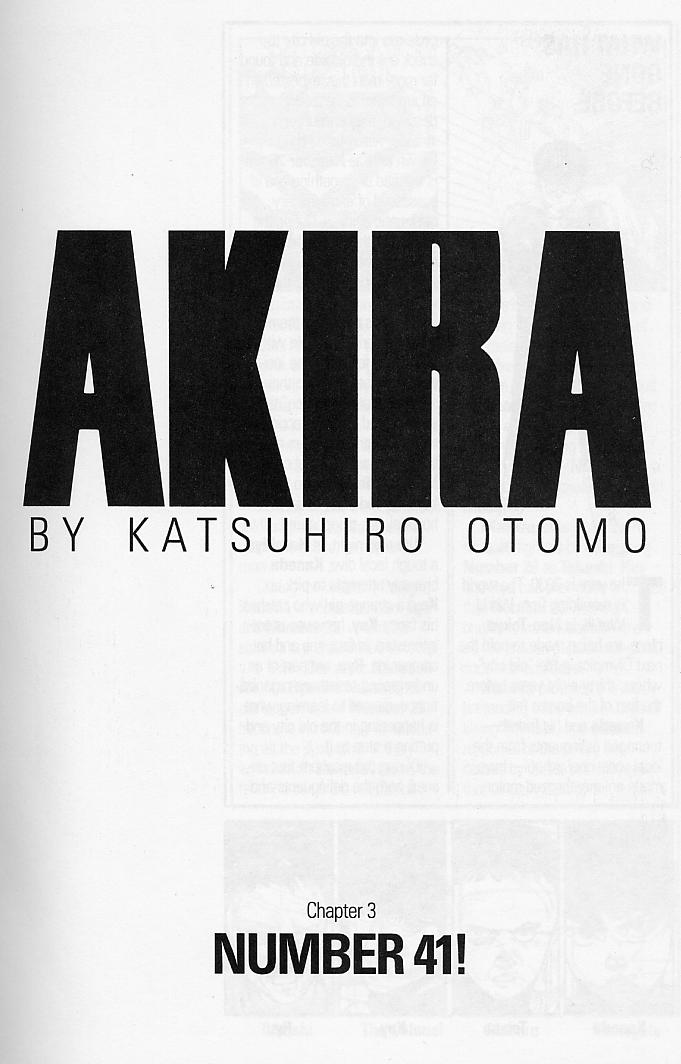 Read online Akira comic -  Issue #3 - 3