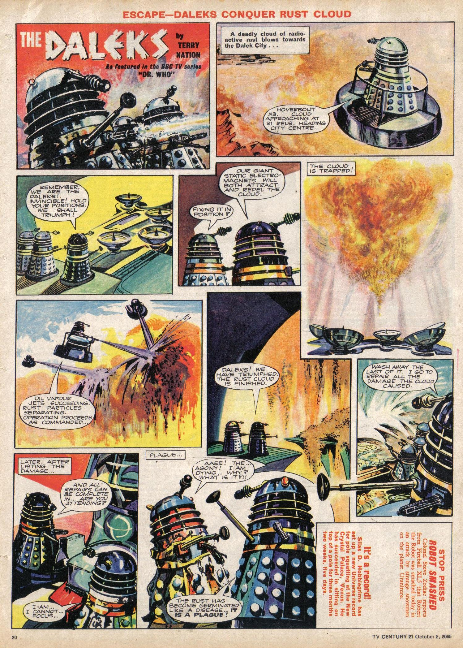 Read online TV Century 21 (TV 21) comic -  Issue #37 - 19