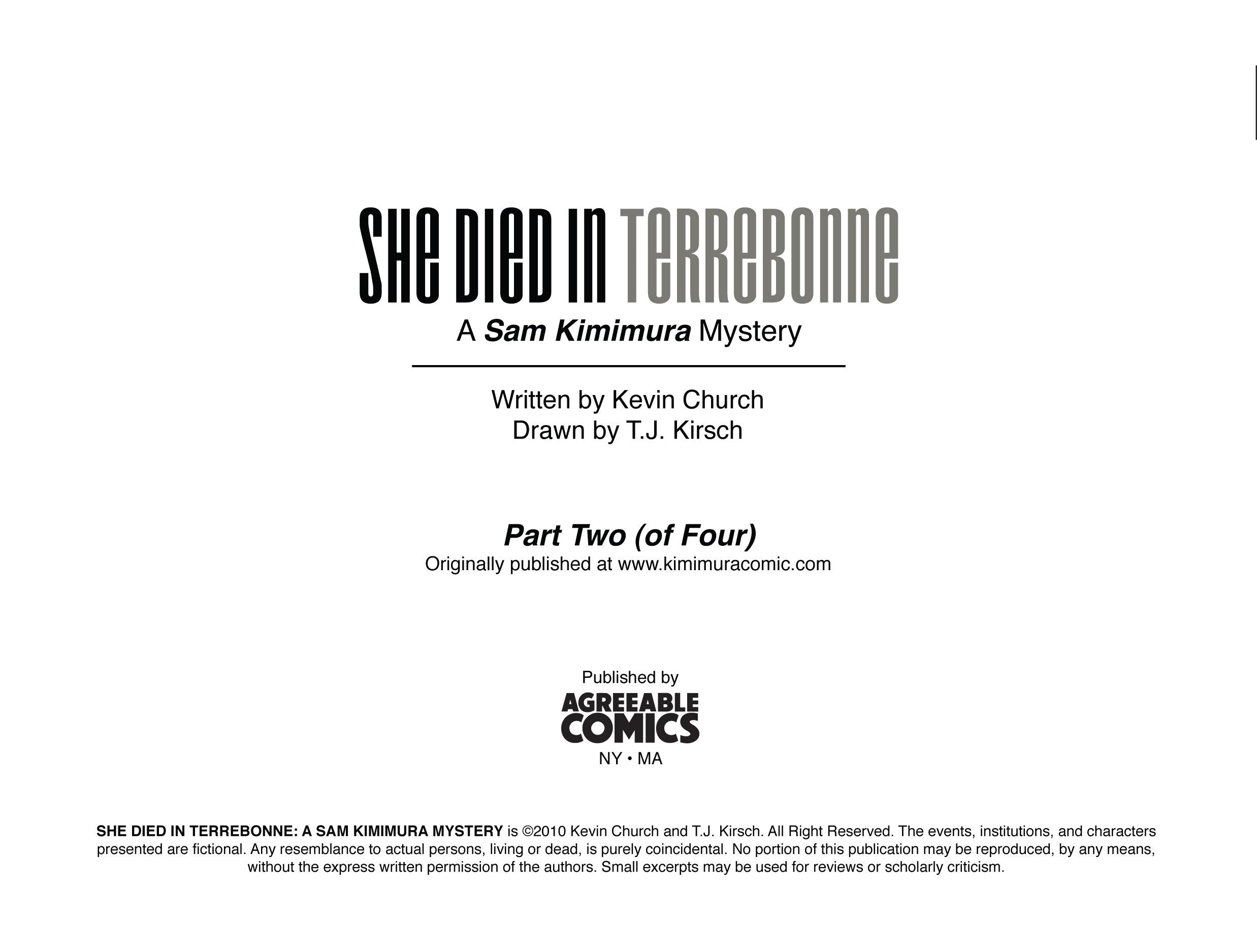 Read online She Died In Terrebonne comic -  Issue #2 - 2