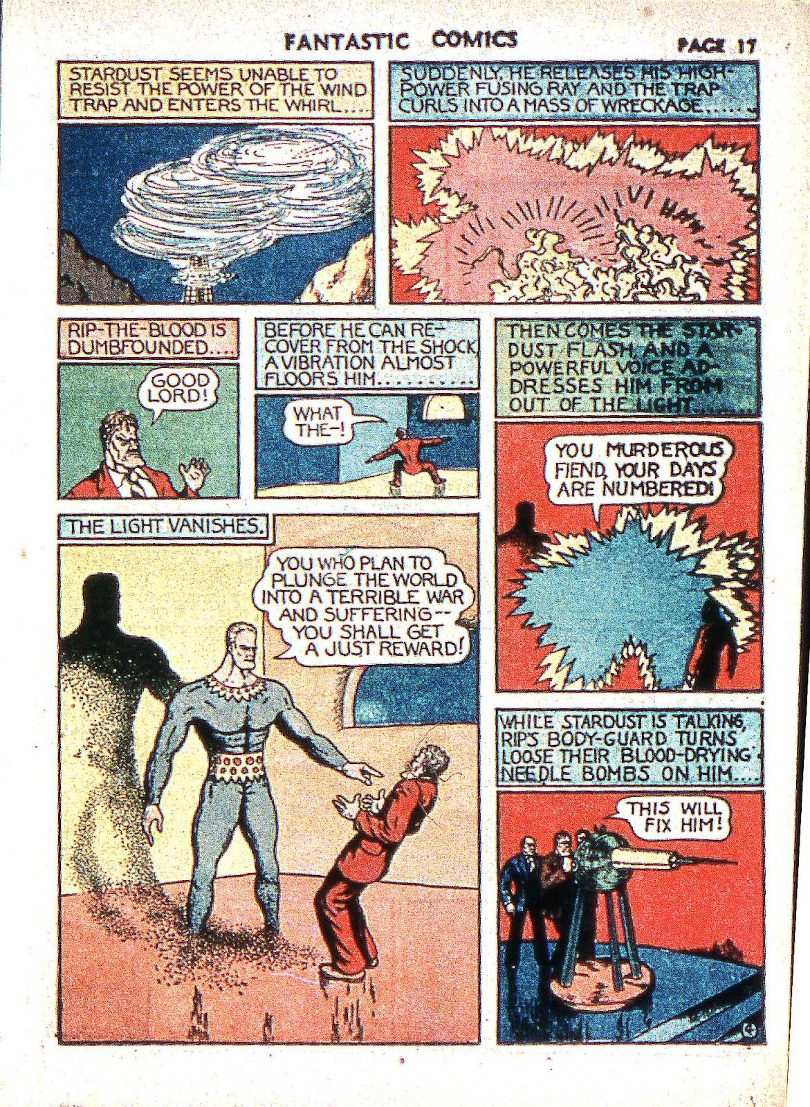 Read online Fantastic Comics comic -  Issue #2 - 19