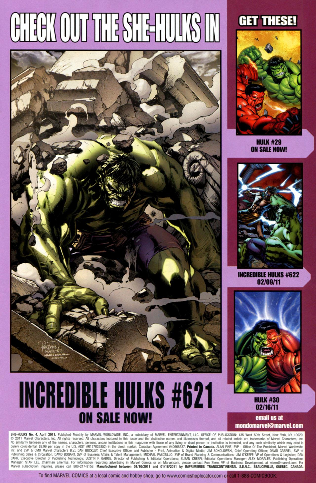 Read online She-Hulks comic -  Issue #4 - 23
