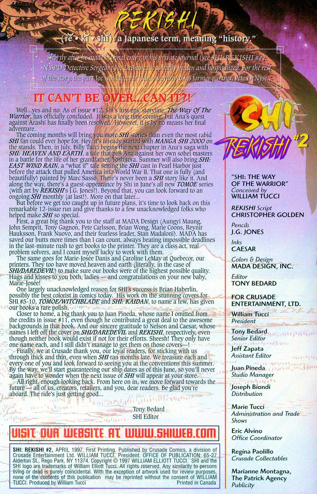 Read online Shi: Rekishi comic -  Issue #2 - 2