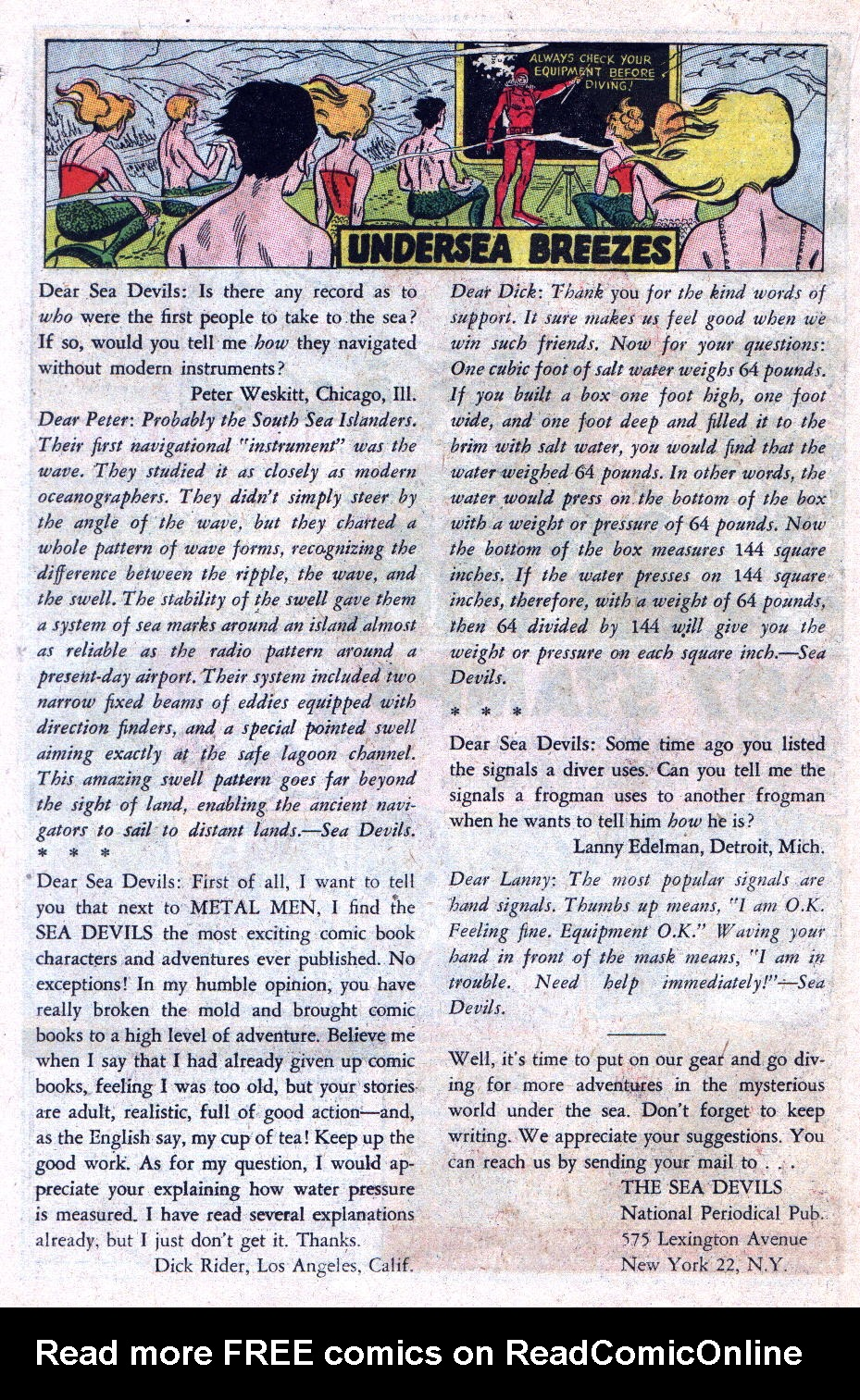 Read online Sea Devils comic -  Issue #11 - 22