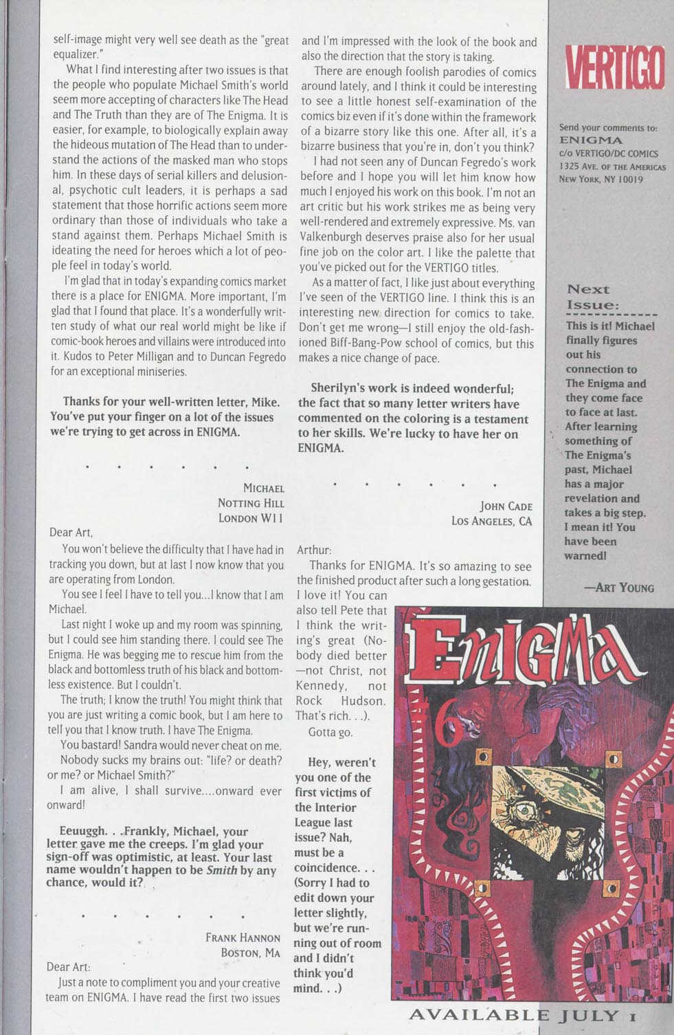 Read online Enigma comic -  Issue #5 - 28