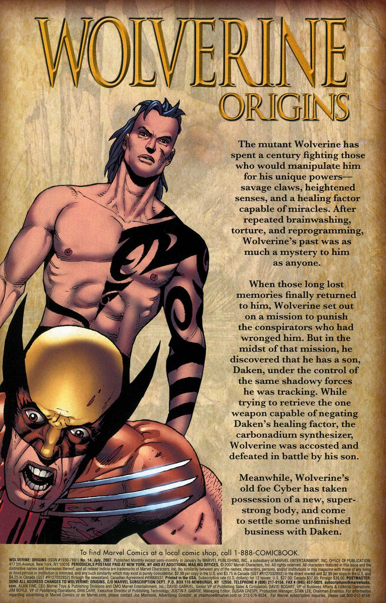 Read online Wolverine: Origins comic -  Issue #14 - 2