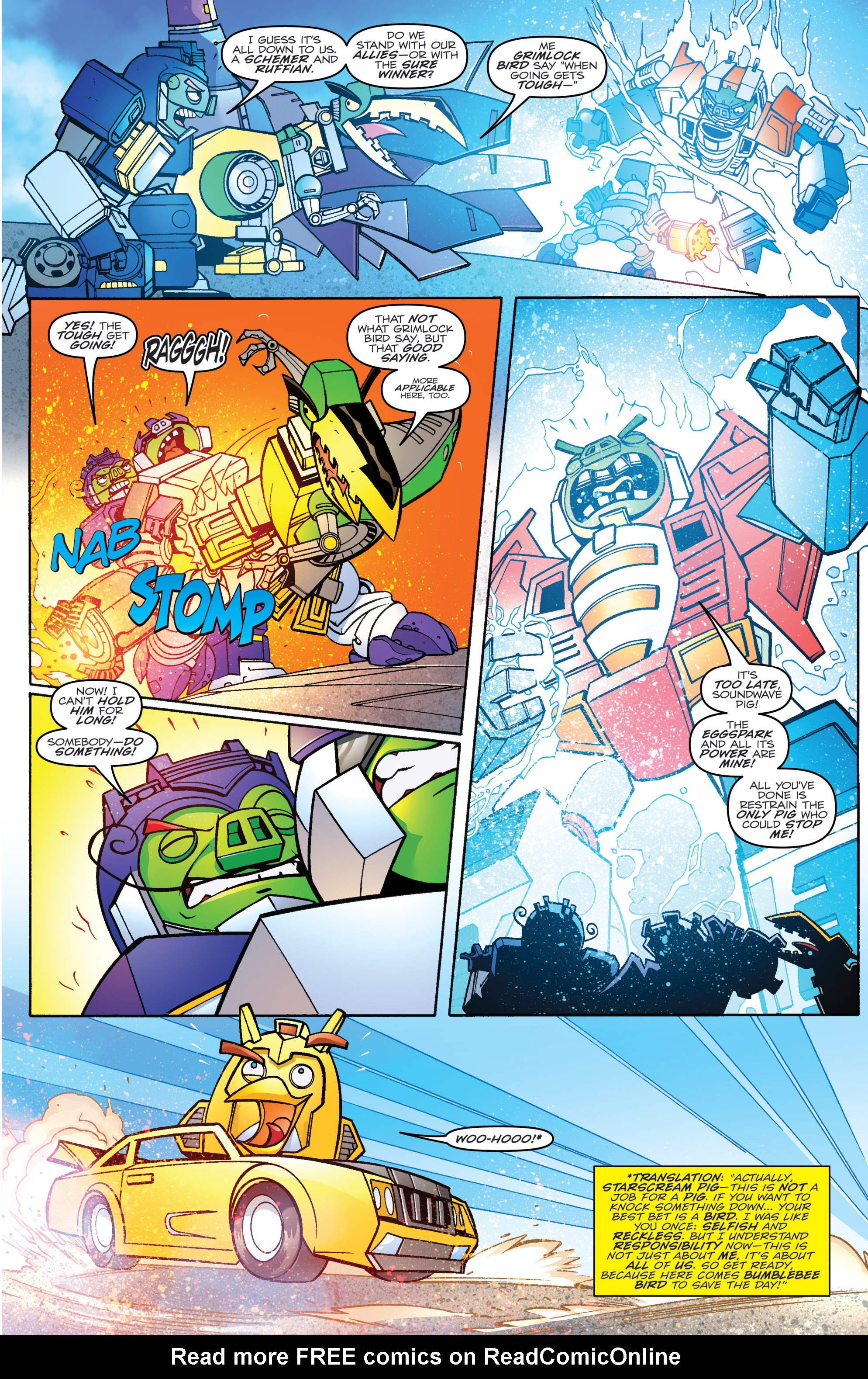 Read online Angry Birds Transformers comic -  Issue #4 - 17