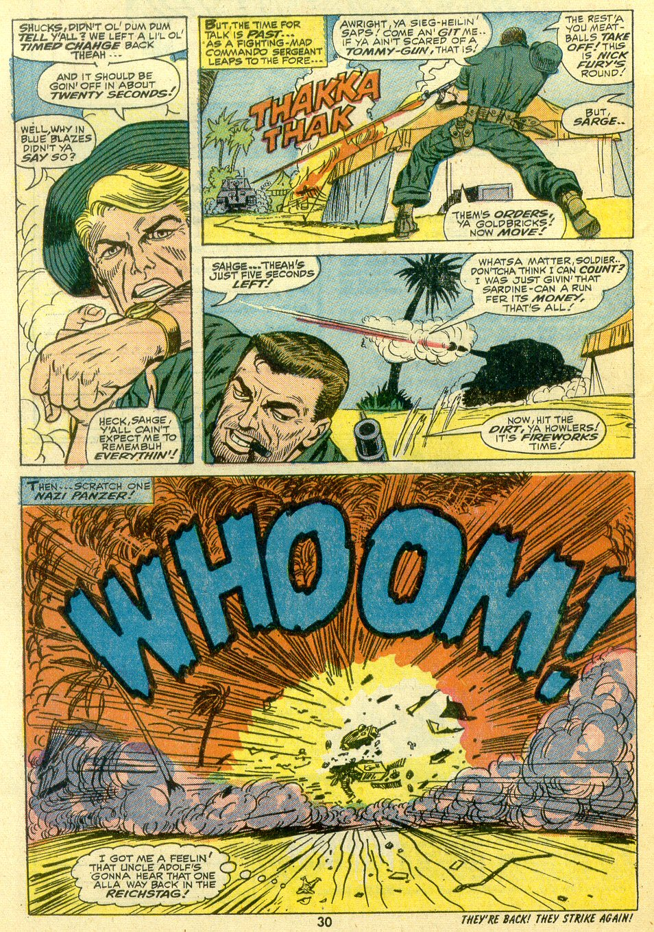 Read online Sgt. Fury comic -  Issue #107 - 32