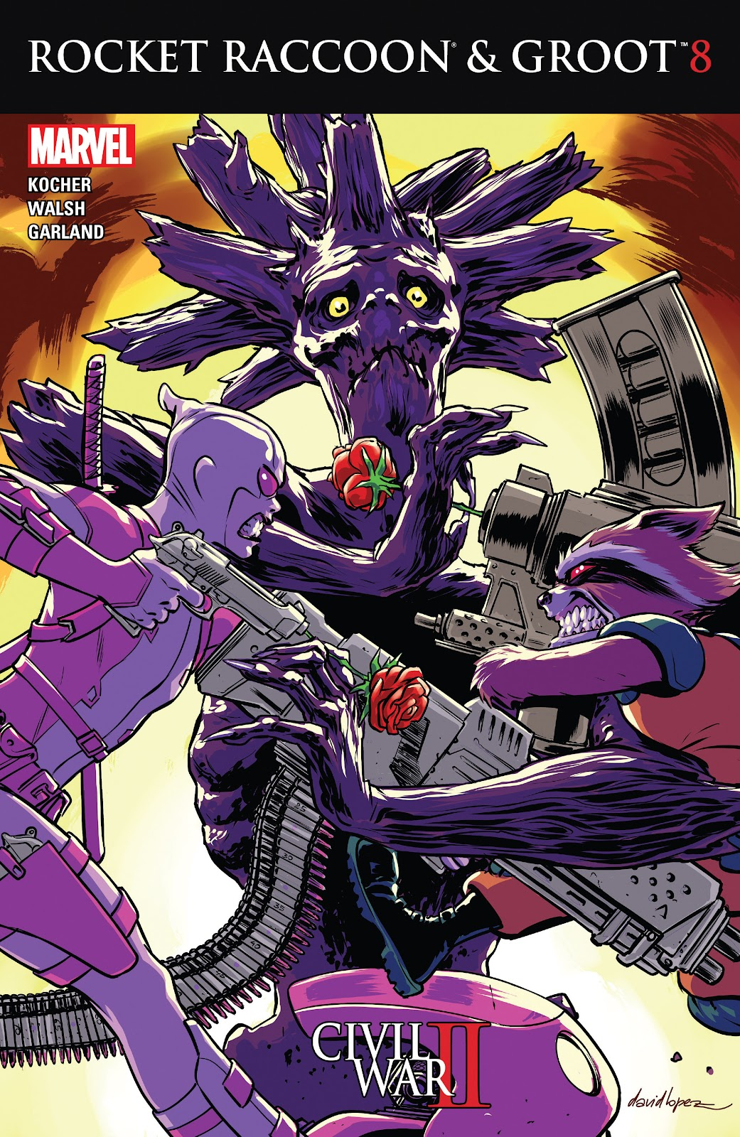 Comic Rocket Raccoon & Groot issue 8