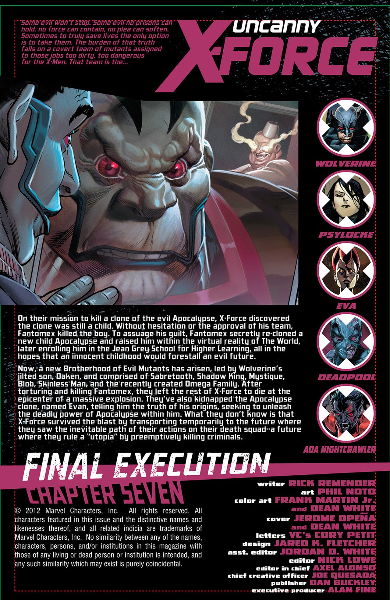 Read online Uncanny X-Force (2010) comic -  Issue #31 - 2