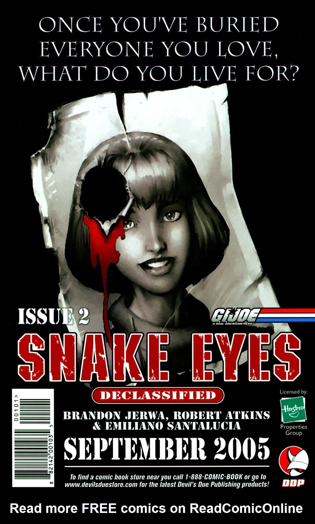 Read online Snake Eyes: Declassified comic -  Issue #1 - 24