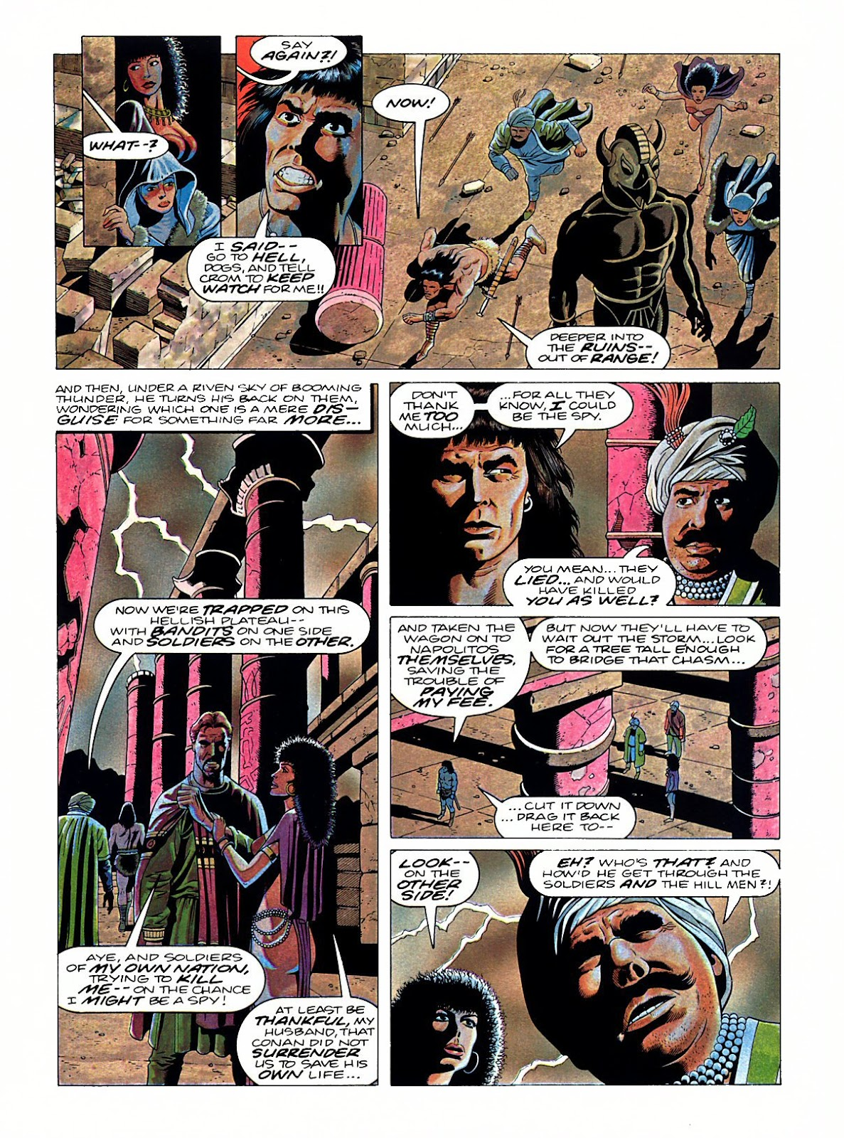 Read online Marvel Graphic Novel: Conan the Barbarian: The Skull of Set comic -  Issue # Full - 34