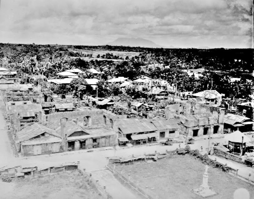 Original caption:  View of the municipality of Lipa, Batangas, showing destruction; looking north from the Lipa Cathedral.  Photo taken by Pfc. Robert Wilson on 8 October 1945.