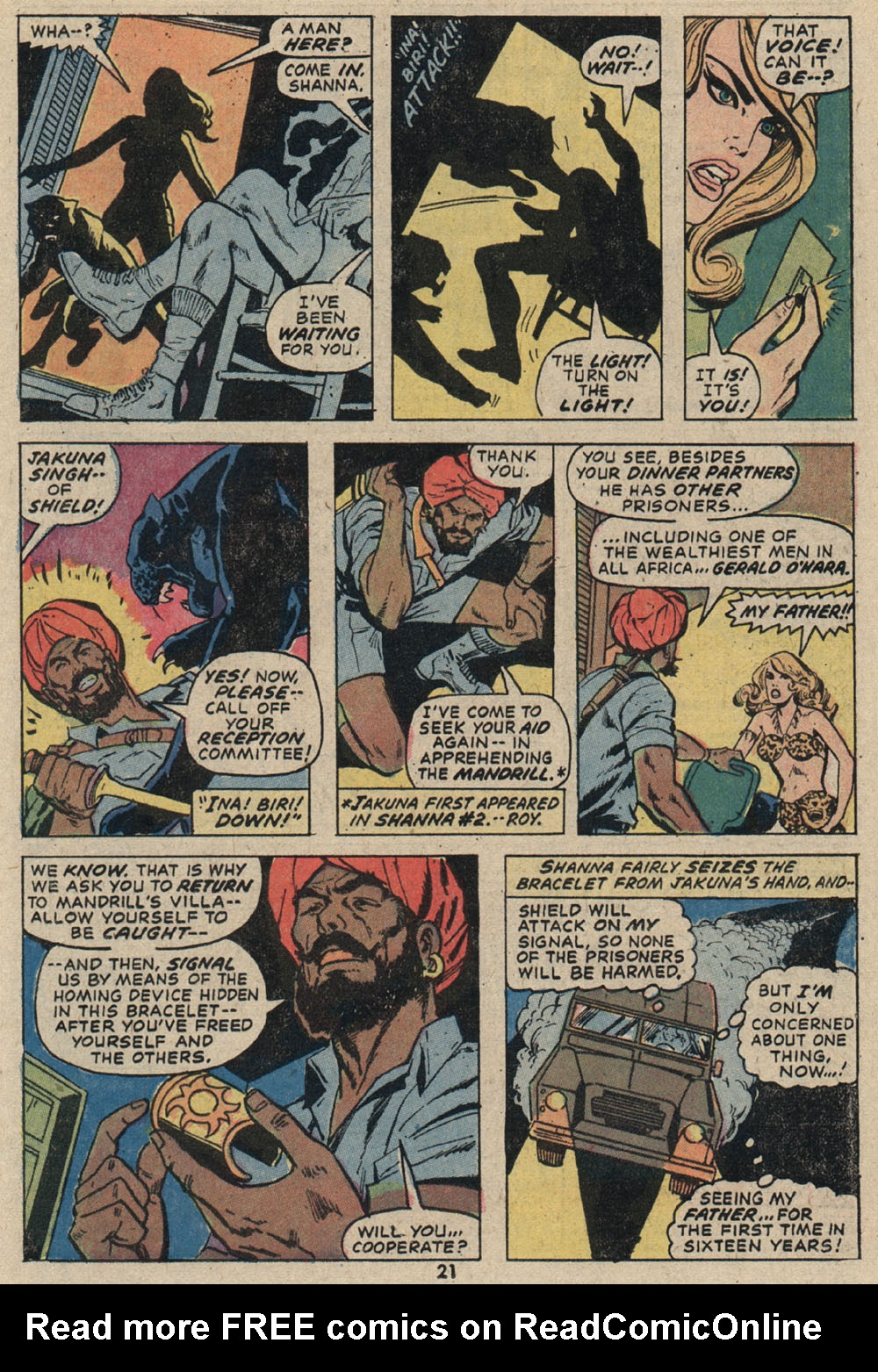 Read online Shanna, the She-Devil (1972) comic -  Issue #4 - 16