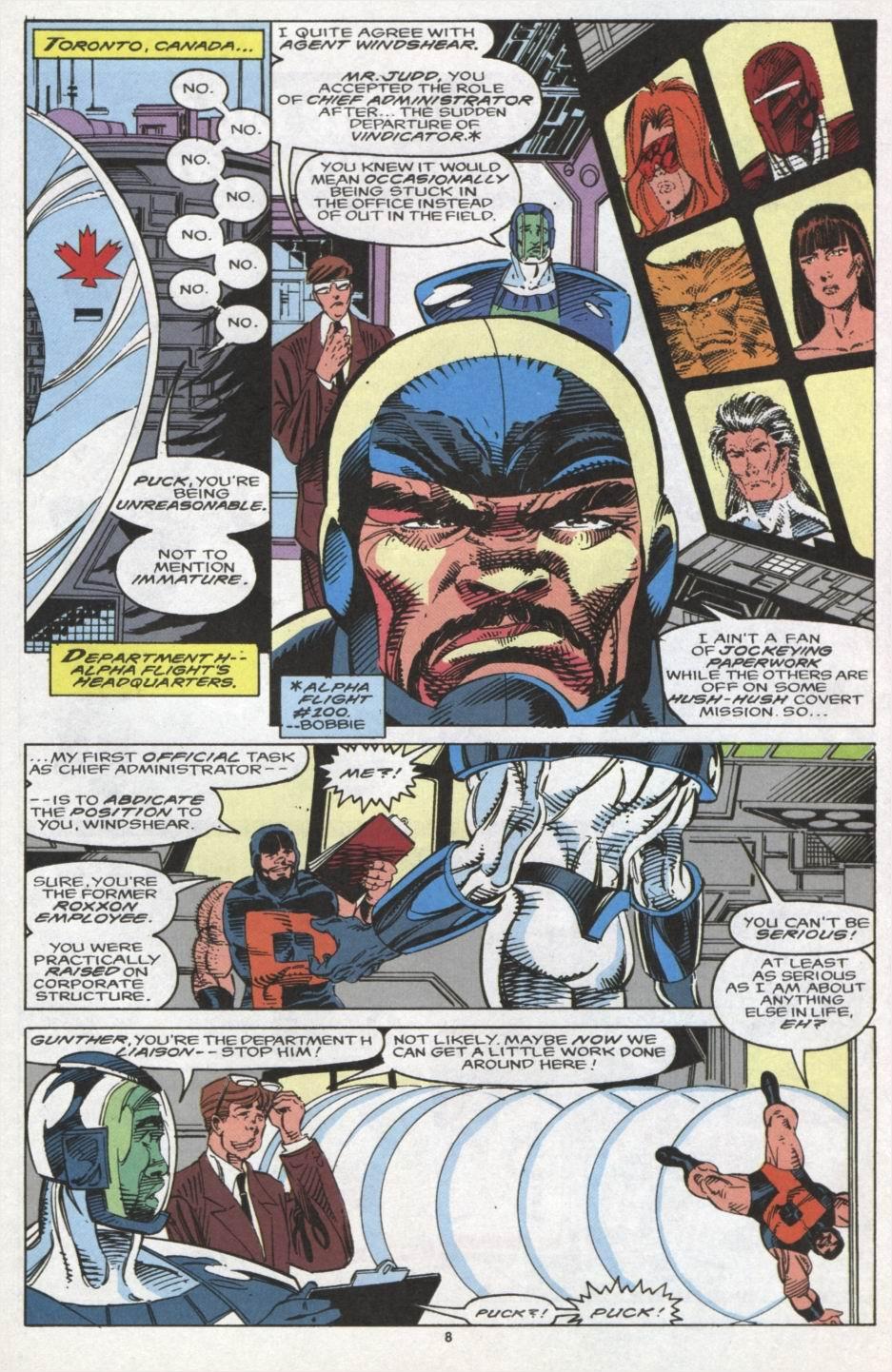Read online Alpha Flight (1983) comic -  Issue #102 - 7