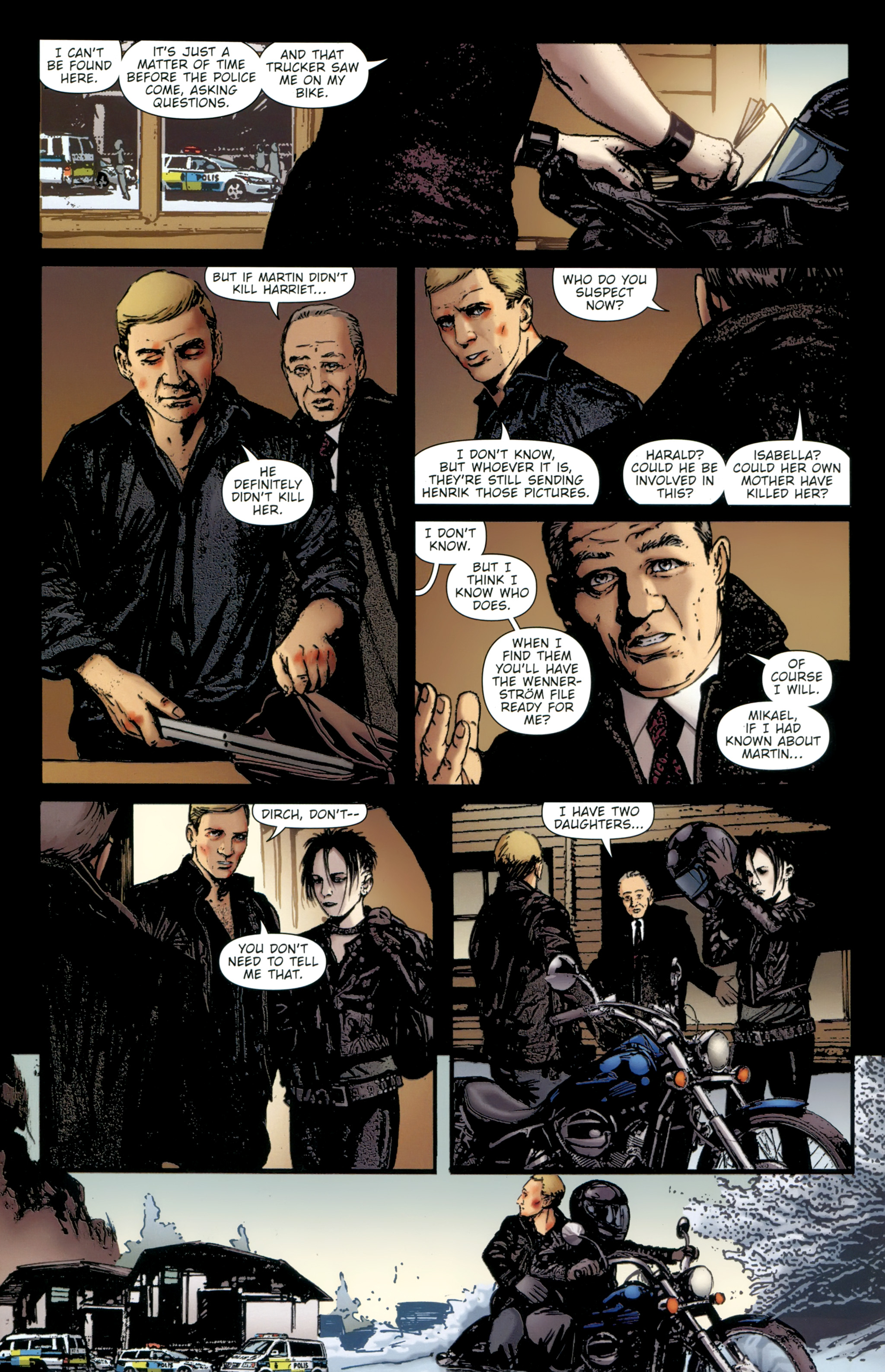 Read online The Girl With the Dragon Tattoo comic -  Issue # TPB 2 - 122