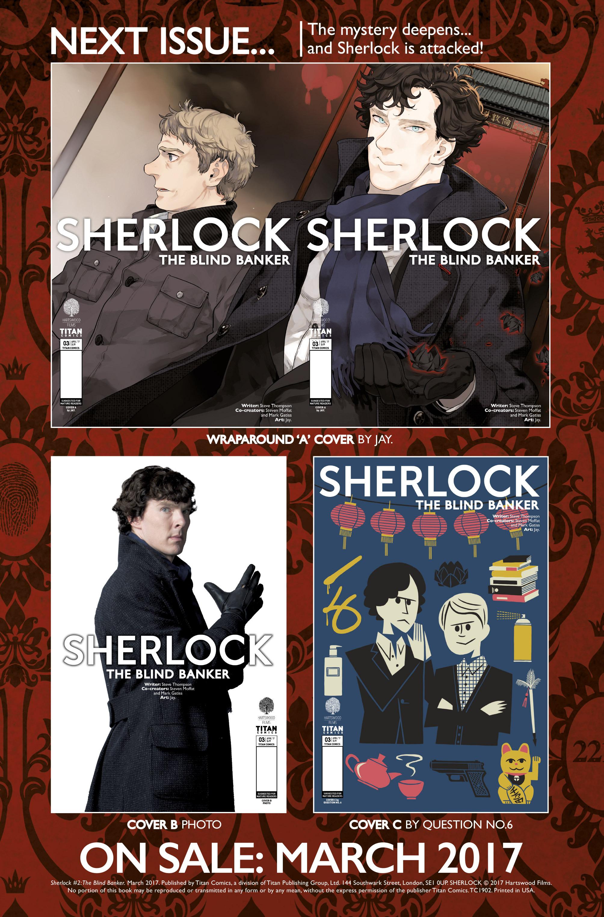 Read online Sherlock: The Blind Banker comic -  Issue #2 - 37