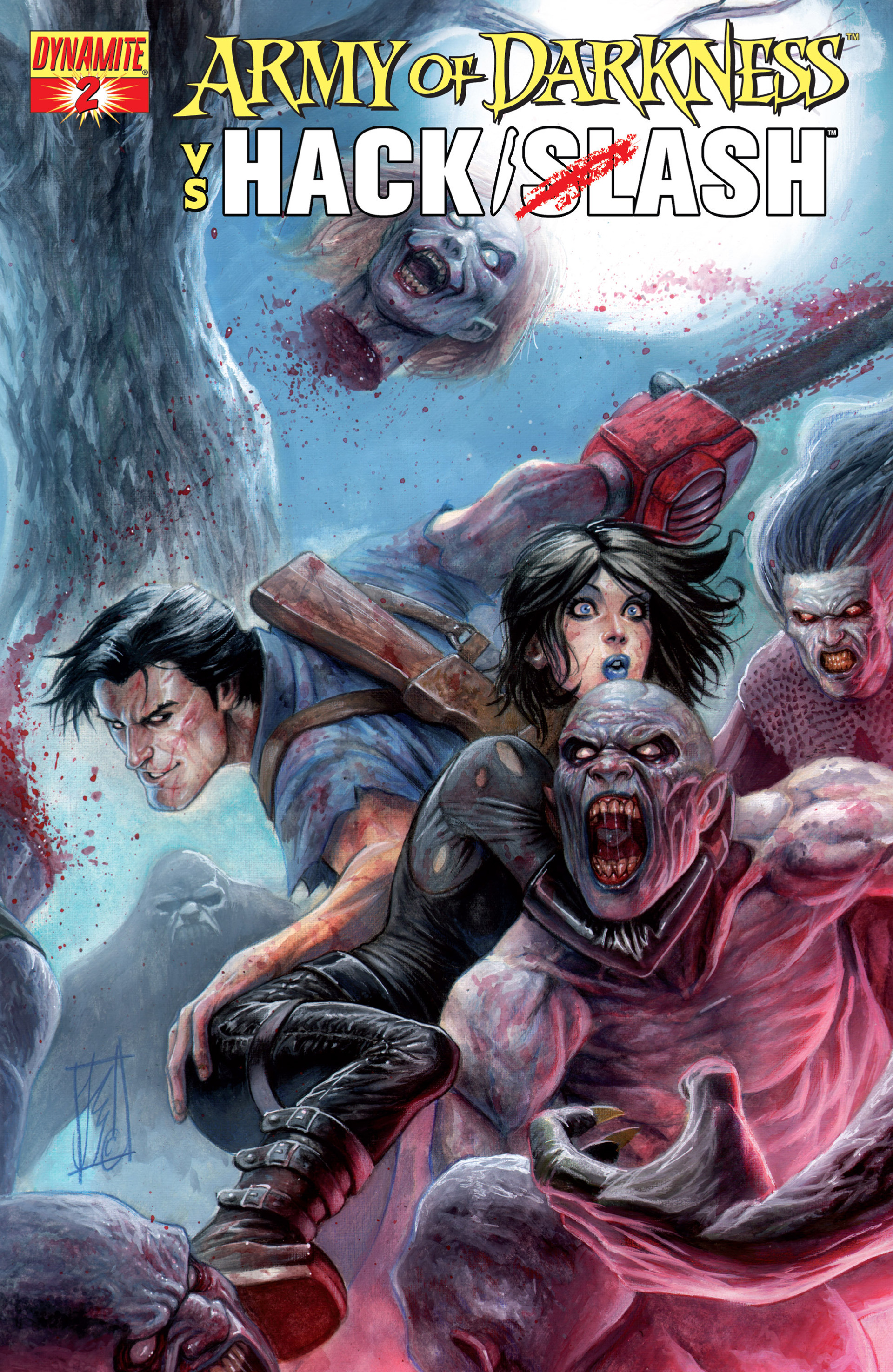 Read online Army of Darkness vs. Hack/Slash comic -  Issue #2 - 1