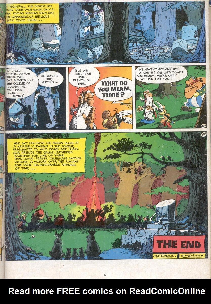 Read online Asterix comic -  Issue #17 - 45