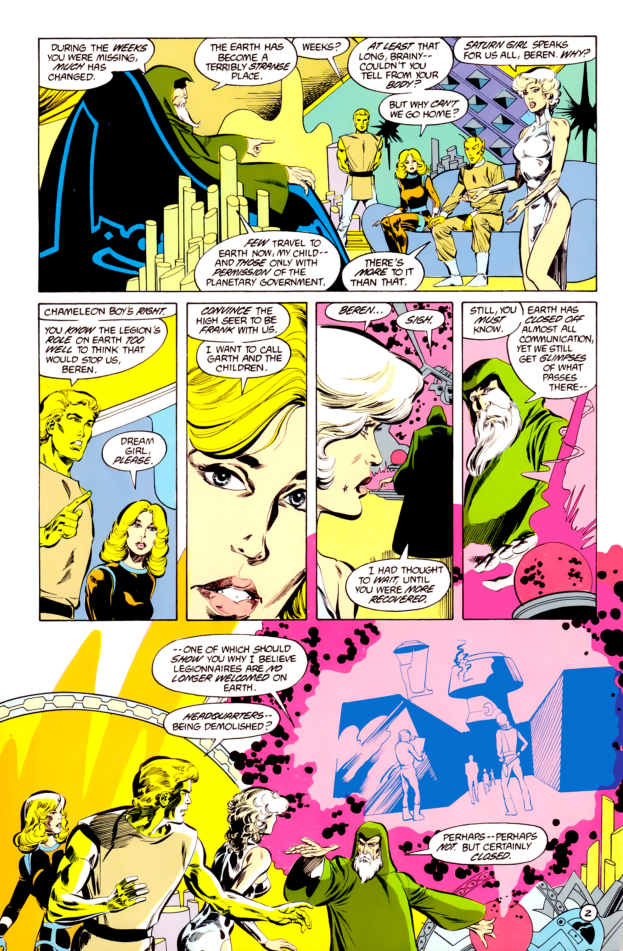 Legion of Super-Heroes (1984) 34 Page 2
