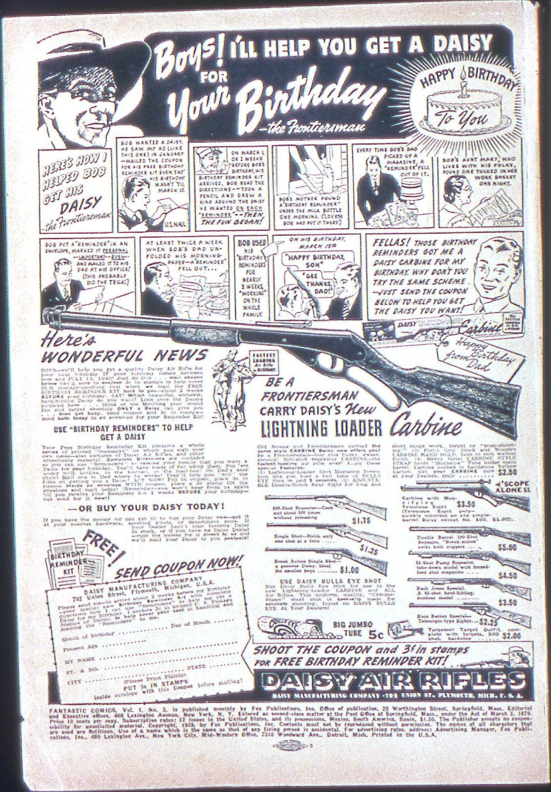 Read online Fantastic Comics comic -  Issue #3 - 3