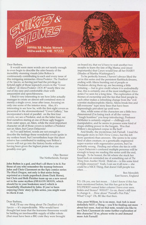 Read online Aliens/Predator: The Deadliest of the Species comic -  Issue #9 - 27